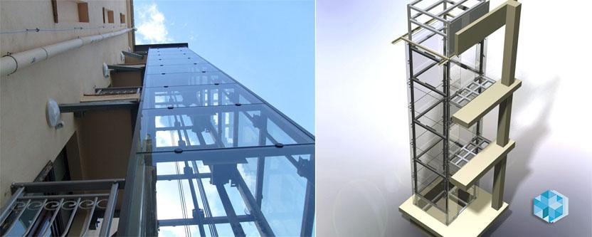 Металлокаркасы лифтовых шахт