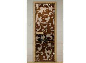 стеклянная дверь по типу 5
