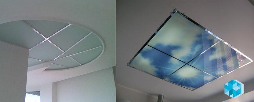 Где применяются стеклянные потолки?