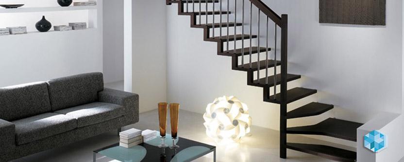 Маршевые лестницы (с открытыми косоурами)