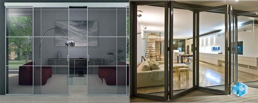 раздвижные стеклянные двери