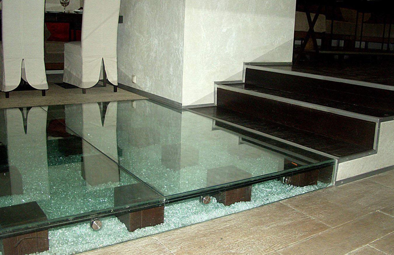 стекло закаленное пол