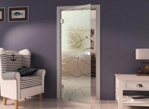 стеклянная дверь по типу 2