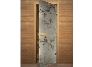 стеклянная дверь по типу 4