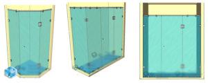 Триплекс для душевых комнат