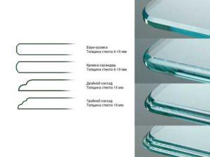 разновидности кромок у стекла