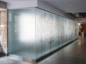 перегородка из матового стекла
