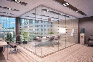 стеклянные перегородки для торговых залов full